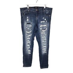 Torrid Boyfriend Jeans Distressed Shredded Size 20